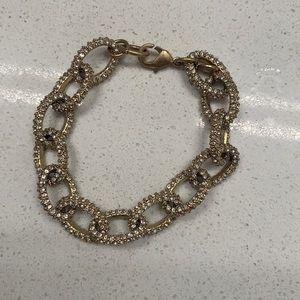 Ann Taylor Paved Chain Link Bracelet